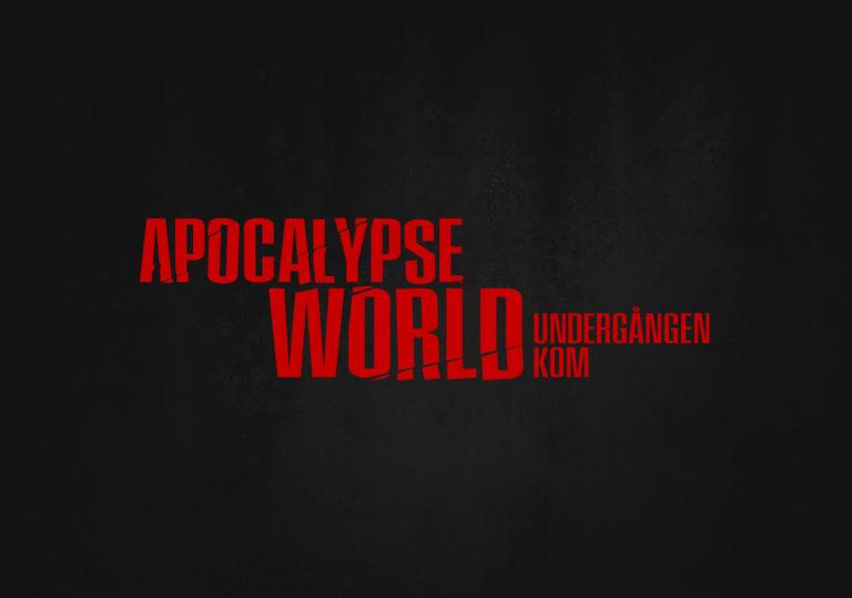 Apocalypse World logo för svenska utgåvan.